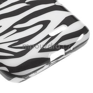 Gélové puzdro na LG L65 D280 - bílá zebra - 5
