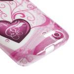 Gélové puzdro pre LG L65 D280 - dve srdce - 5/5