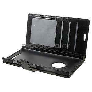 Peňaženkové puzdro na Nokia Lumia 830 - čierné - 5