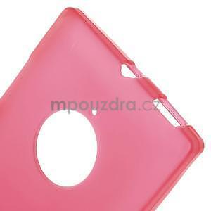 Gélové matné puzdro na Nokia Lumia 830 - červené - 5