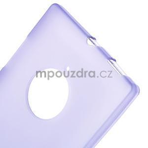 Gélové matné puzdro na Nokia Lumia 830 - fialové - 5