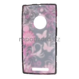 Gélové puzdro na Nokia Lumia 830 - motýl a květ - 5