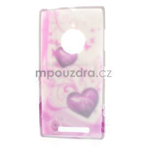 Gélové puzdro na Nokia Lumia 830 - dve srdce - 5
