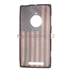 Gélové puzdro na Nokia Lumia 830 - USA vlajka - 5