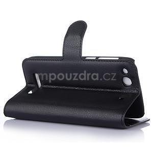 Peňaženkové puzdro pre Alcatel One Touch Idol Alpha 6032 A - čierné - 5