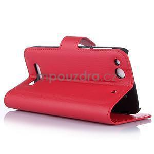 Peňaženkové puzdro pre Alcatel One Touch Idol Alpha 6032 A - červené - 5