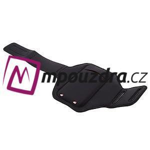 RX7 LED svietiace športové puzdro na ruku pre telefony do 165*85 mm - čierne - 5