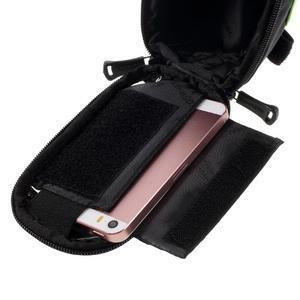 Prostorná brašnička na kolo na mobil do rozměru 124 x 59 x 7,6 mm - zelený lem - 5