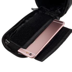 Prostorná brašna na kolo pro mobilní telefony do rozměru 158,1 x 78 x 7,1 mm - černá - 5