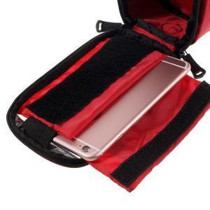 Prostorná brašna na kolo pro mobilní telefony do rozměru 158,1 x 78 x 7,1 mm - červená - 5