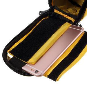 Prostorná brašna na kolo pro mobilní telefony do rozměru 158,1 x 78 x 7,1 mm - žlutá - 5