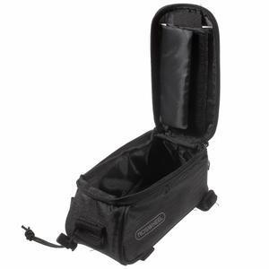 Brašna na kolo s úložným prostorem pro mobily do rozměru 138,3 x 67,1 × 7,1 mm - černá - 5