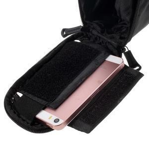 Prostorná brašnička na kolo na mobil do rozměru 124 x 59 x 7,6 mm - červený lem - 5