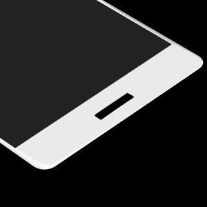 Protinárazové celoplošné tvrdené sklo pre mobil Huawei P9 - biele - 5