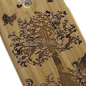 Dřevené pouzdro rozepínací na Samsung Galaxy S4 - stromeček - 5