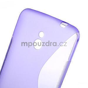 Gélové S-line puzdro pre Nokia Lumia 1320- fialové - 5