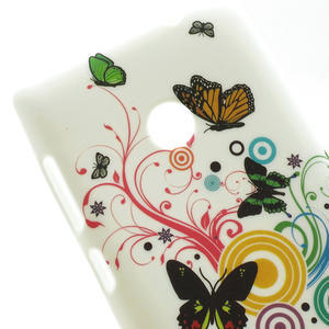 Gélové puzdro na Nokia Lumia 520- farebné motýlci - 5