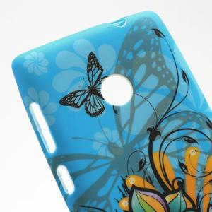Gélové puzdro na Nokia Lumia 520- motýl - 5