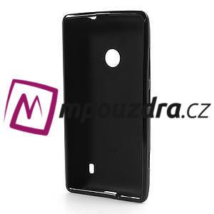 Gélové matné puzdro na Nokia Lumia 520 - čierné - 5