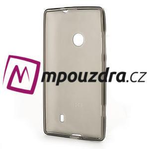 Gélové matné puzdro na Nokia Lumia 520 - šedé - 5