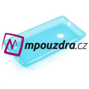 Gélové matné puzdro na Nokia Lumia 520 - svetlo modré - 5