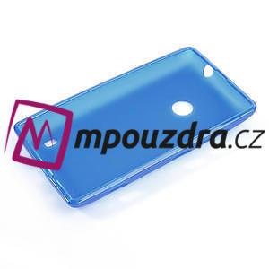 Gélové matné puzdro na Nokia Lumia 520 - modré - 5