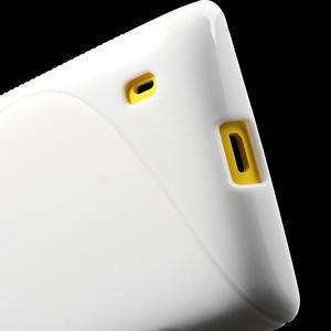 Gélové S-line puzdro na Nokia Lumia 520- biele - 5