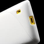 Gélové S-line puzdro na Nokia Lumia 520- biele - 5/6