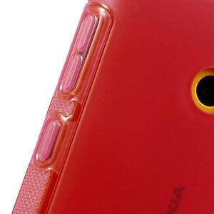 Gélové S-line puzdro na Nokia Lumia 520- červené - 5
