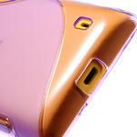 Gélové S-line puzdro na Nokia Lumia 520- fialové - 5/5