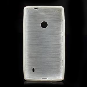 Gélové kartáčové puzdro na Nokia Lumia 520- biele - 5