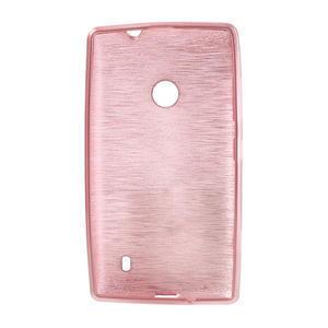 Gélové kartáčové puzdro na Nokia Lumia 520- svetleružové - 5