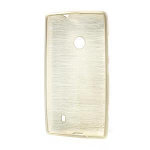 Gélové kartáčové puzdro na Nokia Lumia 520- zlaté - 5
