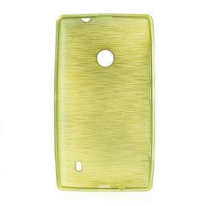 Gélové kartáčové puzdro na Nokia Lumia 520- zelené - 5
