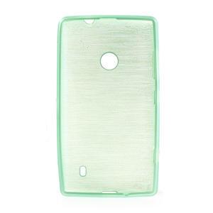 Gélové kartáčové puzdro na Nokia Lumia 520- zelenomodré - 5