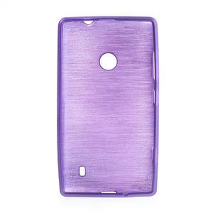 Gélové kartáčové puzdro na Nokia Lumia 520- fialové - 5
