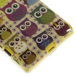 Gélové puzdro na Nokia Lumia 520 - multi sovy 1 - 5/5