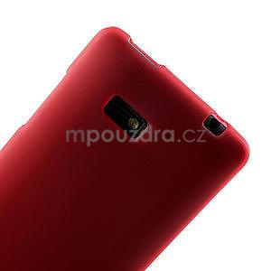 Gélové matné puzdro pre HTC Desire 600- červené - 5