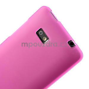 Gélové matné puzdro pre HTC Desire 600- ružové - 5