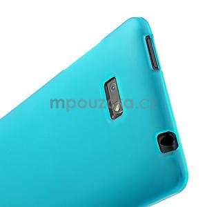 Gélové matné puzdro pre HTC Desire 600- svetlo modré - 5