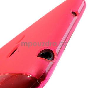 Gélové S-line puzdro pre Nokia Lumia 625- ružové - 5
