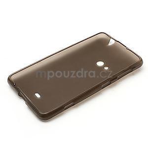Gélové matné puzdro pre Nokia Lumia 625- sivé - 5