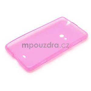 Gélové matné puzdro pre Nokia Lumia 625- ružové - 5