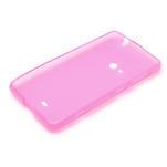 Gélové matné puzdro pre Nokia Lumia 625- ružové - 5/5