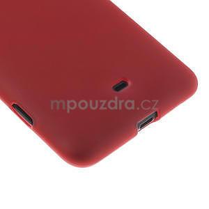 Gélové matné puzdro pre Nokia Lumia 625- červené - 5