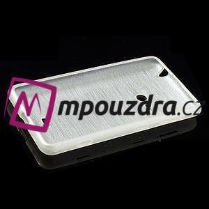 Gélové kartáčové puzdro na Nokia Lumia 625 - biele - 5