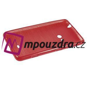 Gélové kartáčové puzdro na Nokia Lumia 625 - červené - 5