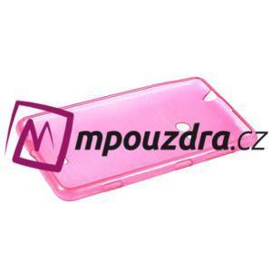 Gélové kartáčové puzdro na Nokia Lumia 625 - ružové - 5