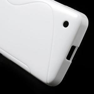 Gélové S-line puzdro na Nokia Lumia 630- biele - 5