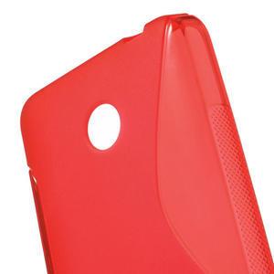 Gélové S-line puzdro na Nokia Lumia 630- červené - 5